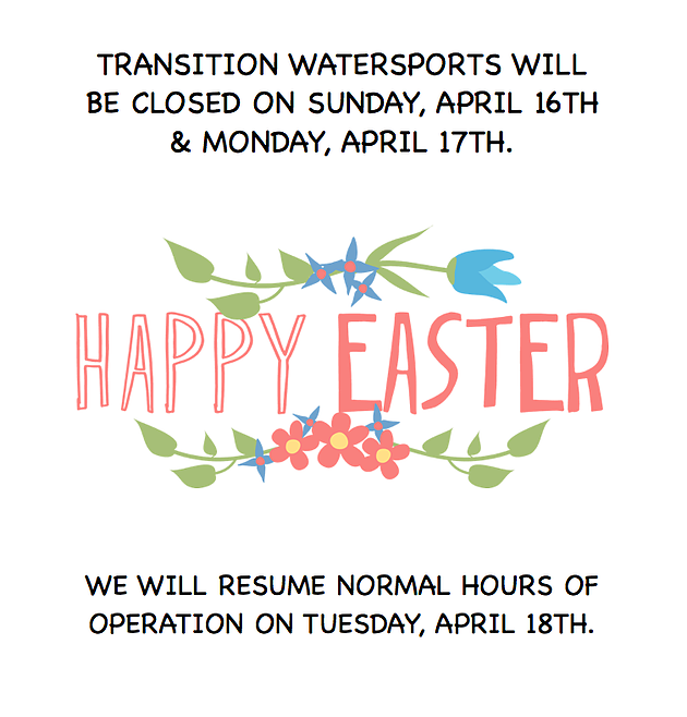 Easter Hours Of Operation Transition Watersports Ocklawaha Florida